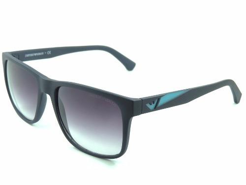 ba43590b8f91f Óculos De Sol Masculino Armani Preto Com Azul Barato - R  49