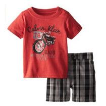 Calvin Klein Conjunto De Niños De 2 Piezas Franela Y Short
