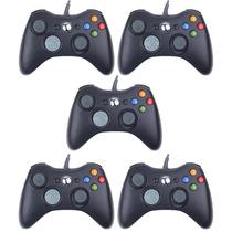 5 Controles Xbox 360 Com Fio - Marca Feir Original - Atacado