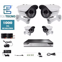 Kit Camaras Seguridad Dvr Hd 8 Canales 4 Cam 1000tvl