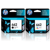 Combo Cartuchos Hp 662 Negro Y Color Originales