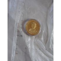 Moneda Medalla De Plata Con Chapa De Oro Colección President