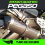 Tubo De Escape Racing Carbono De Moto Tda Pegaso