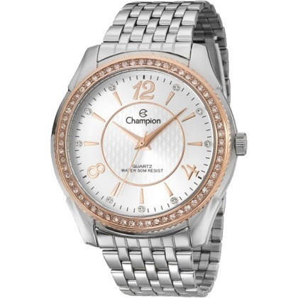 948488bb099 Relógio Champion Feminino Cn29632q Prateado Aço Inox C  Nf - R  198 ...