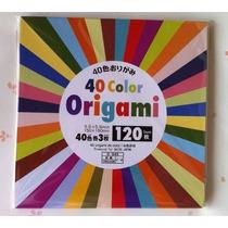 Papel Origami 15x15 Cm 120 Hojas/40 Colores Original Japon