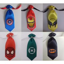 Gravatas Super Heróis - Pet Shop - Tam Único - Pct 60 Unid.