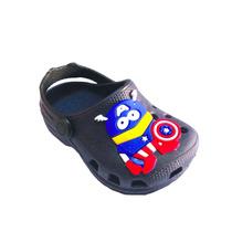 Sandália Crocs Infantil Meninos Capitão América - Clique+