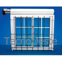 Ventana Aluminio Blanco 120x110 Repartido Guias Cortina Reja