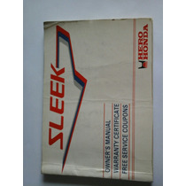 Manual De Usuario / Mantenimiento De Hero Honda Sleek