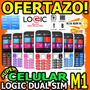 Wow Celular Logic M1 Plus Dual Band Doble Linea Liberado