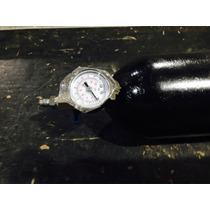 Cilindro Reservatório De Co2 E Outros 2kg Com Manometro .