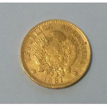 Argentino De Oro Año 1881 Escasa 37.152