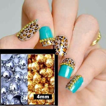 Perla Gold & Silver Para Decorar Uñas 4 Mm
