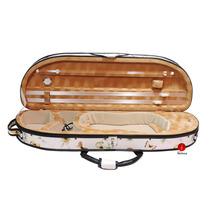 Estojo Case Térmico Violino 4/4 Meia Lua Higrometro Florido