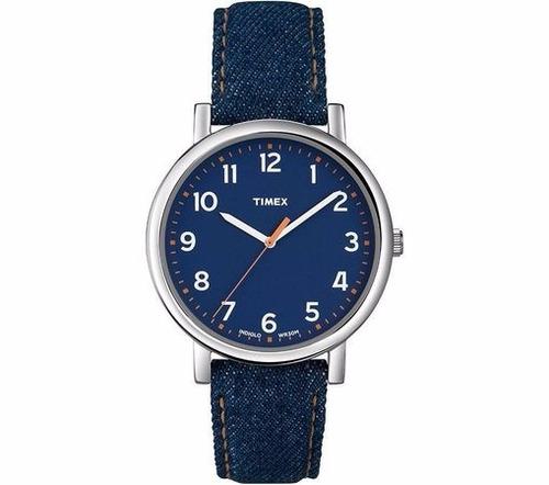 78dc3897c58 Relógio Masculino Heritage Pulseira Couro E Jeans Timex - R  266
