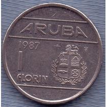Aruba 1 Florin 1987 * Antillas Holandesas * Beatrix *
