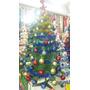 Arbol De Navidad Pino Navideño 1.20 Mts Verde Con Adornos