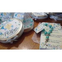 Souvenirs Comunion Latita+denario Perlas+ Bolsita+estampita