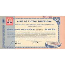 Bono Accion Club De Futbol Barcelona 1957 !