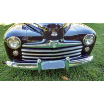 Ford Sedan 1947 4 Portas Antigo Restaurado Placa Preta