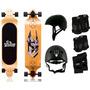 Kit Longboard Twodogs Bobcat D2 + Capacete + Kit De Proteção