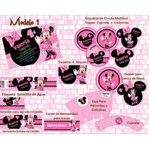 Mimi Mause Invitacion, Kit Implimible Minnie Mouse,