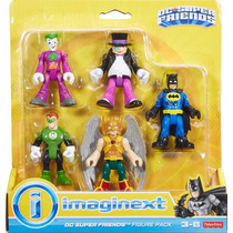 Dc Imaginext Batman Hawkman Joker Penguin Green Lantern