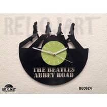 Reloj En Disco De Vinil The Beatles - Increible Y Original