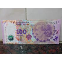 100 Pesos Evita Reposicion Del Pont Boudou B 4011