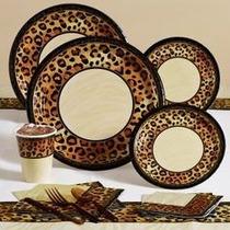 Animal Print (safari Chic) Manteleria Original Importada
