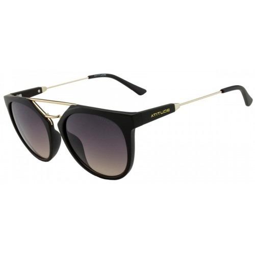 b2e630726192c Óculos De Sol Feminino - Atitude At5294 - Redondo   Retrô - R  229,00 em  Mercado Livre