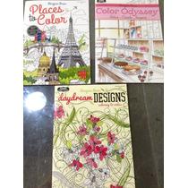 Tres Libros Para Colorear Mandalas Y Dibujos Fascinantes.