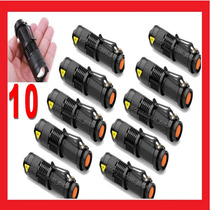 10 Lamparas Tacticas Mini De 2800 Lumens Cree Led Recargable