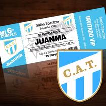 Pack 12 Invitaciones Personalizadas Fútbol Atlético Tucumán