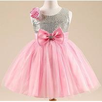Vestido Infantil Paete Festa, Aniversário Casamento Barbie