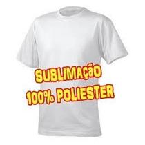 Camisetas 100% Poliéster Branca Para Sublimação