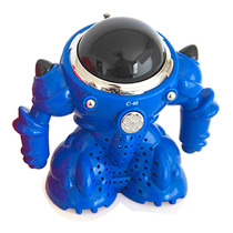 Velikka Bocina Robot Usb Radio Fm Micro Sd Pila St-40 Azul