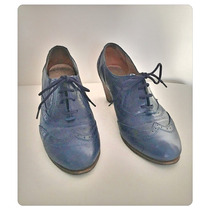 Zapato De Cuero Color Azul Ash. Impecables!!
