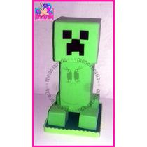 Minecraft Creeper Steve Centro De Mesa Fiesta Fofuchos