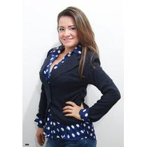 Blazer Corto Para Dama Yeny - Uniformes Empresariales