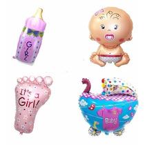 Paquete De 10 Globos Metalicos Baby Shower 9 Fiestas Bebé