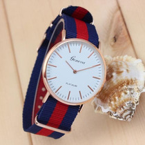 Lote De 10 Relojes Geneva Rl0030 Extensible Textil. Mayoreo.