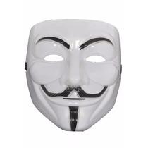Máscara Plástica Vingador V De Vingança Anonymous Guy Fawkes