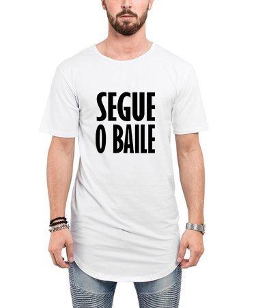 c539191de Camiseta Segue O Baile Longline Oversized Masculina Warriors - R  39 ...