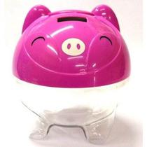 Cofrinho Digital Contador Moedas Porquinho Porco Cofre Rosa
