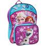 Frozen Mochila Escolar Con Lonchera Para Niñas - Disney