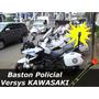 Baston Moto Policial Estrobo Klr650 Vstrom Kawasaki Versys