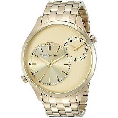 9fee8fa52a26 Reloj Armani Exchange Ax2176  hampton  Dual Time Dorado De -   6
