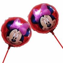 Kit 20 Balão Metalizado Minnie 21cm Centro Mesa Festa Minie