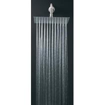 Regadera Cuadrada Grande 25cm Plana Antisarro Lluvia C/brazo